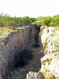 One of the earth fissures I observed