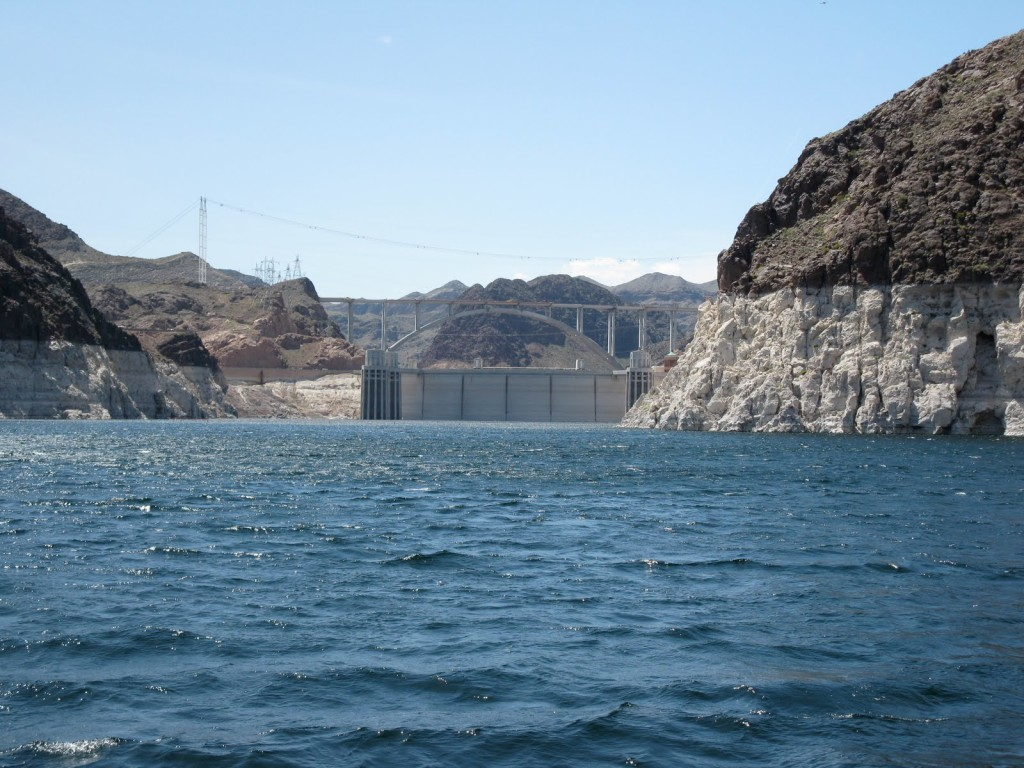 "The ""bathtub ring"" around Lake Mead shows how far the lake has dropped since 2000"